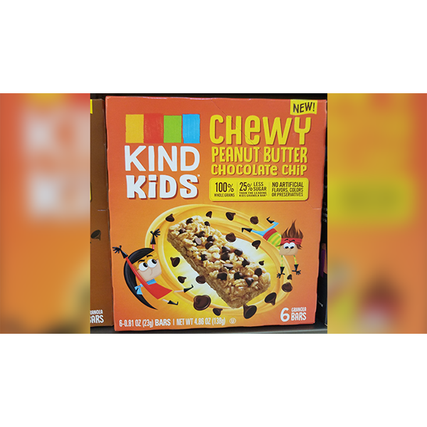 Kids Chewy Peanut Butter Chocolate Chip